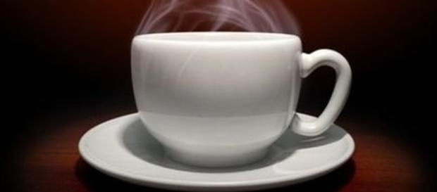 Filiżanka, gorącej czarnej kawy.