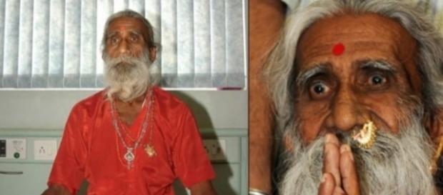 Imagem do indiano que afirma ter ficado 70 anos sem comer.