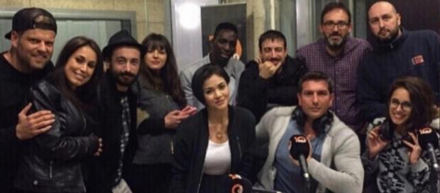 Iván Madrazo junto al resto del equipo de 'La noche pirata' / @ivan_615