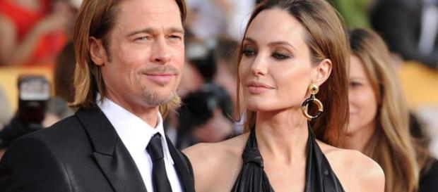 O casal apaixonou-se durante as gravações de 'Mr and Mrs Smith'.