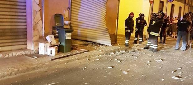 Sono intervenuti anche i Vigili del Fuoco in via Merello, a Quartu.