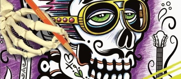 Sugar Skulls Are Becoming Increasingly Popular Subjects Photo Via Erika Merklinger Crayola