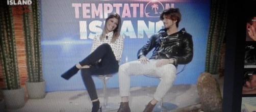 Andrea Damante e Giorgia Lucini a Temptation Island
