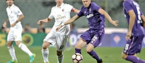 Ilicic in azione contro il Milan. Per lo sloveno è stato il primo errore dal dischetto
