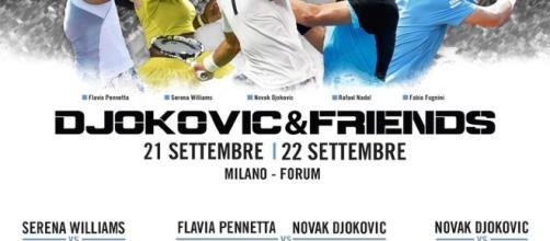 L'evento benefico organizzato da Djokovic.