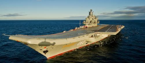 La colossale portaerei 'Kuznetsov', ammiraglia della marina militare russa