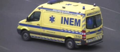 O óbito foi confirmado pela equipa do INEM no local