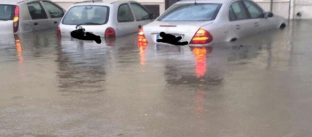 Bomba d'acqua sul Salento: tanta pioggia.