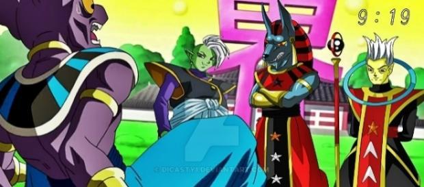 El dios destructor del Universo 10 defiende a Zamasu. (FanArt realizado por el artista Dicasty)