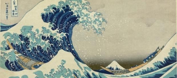 Il famoso quadro di Hokusai 'la grande onda'