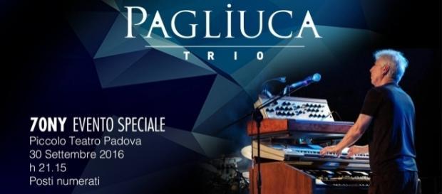 """La locandina ufficiale del """"70NY Evento Speciale - Pagliuca Trio"""""""