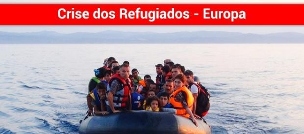 Refugiados chegam de barco na Europa - Foto: Reprodução Rr.sapo