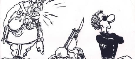 Una vignetta di Andrea Pazienza