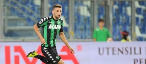 Berardi in azione con la maglia del Sassuolo