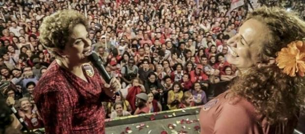 Dilma esteve presente prestigiando Jandira