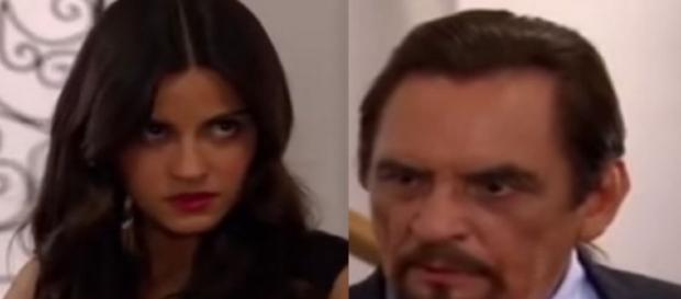 Esmeralda e seu pai discutem feio