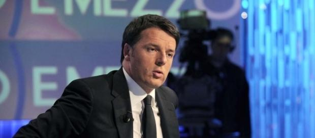 Matteo Renzi durante la trasmissione di Lilli Gruber.