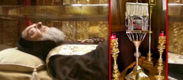 reliquia cuore di Padre Pio a Boston