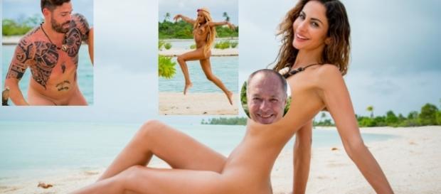 Sarah Joelle (li.), Ronald Schill und Janina Youssefian lieben es offenbar so nackt