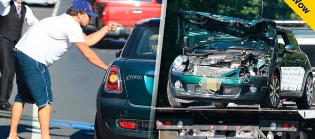 Sra. Mexicana indocumentada se llevó una sorpresa al ver a quien fue la persona que estaba en el vehículo que choco.