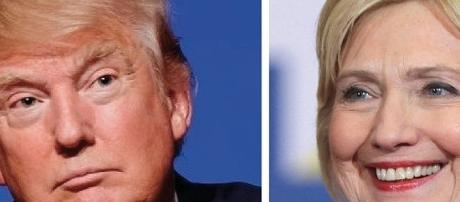 Presidential candidates: Donald Trump and Hillary Clinton. Courtesy:Wikimedia Commons.