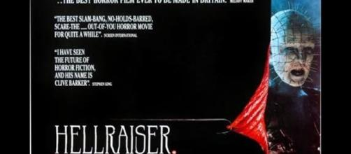 Poster for Hellraiser / Photo by Entertainment Film Distributors, creative commons via Wikipedia.com
