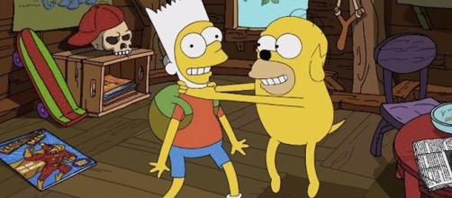 Los Simpson le rinden homenaje a 'Hora de aventura' en una de sus intro.