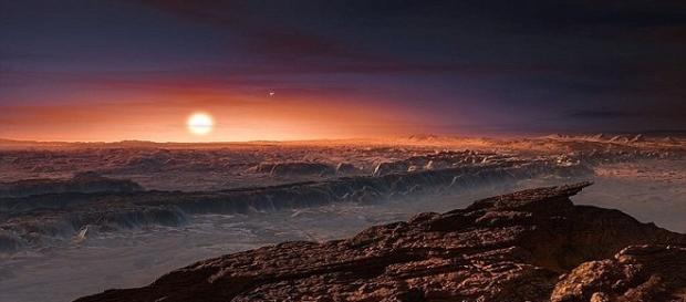 Imagem ilustra possível aparência de Proxima b (AFP/Getty Imagens)