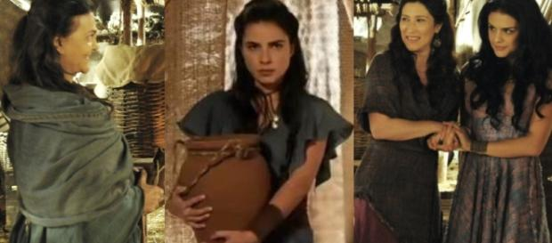 Léia e Samara dão um peixe envenenado para Adara.