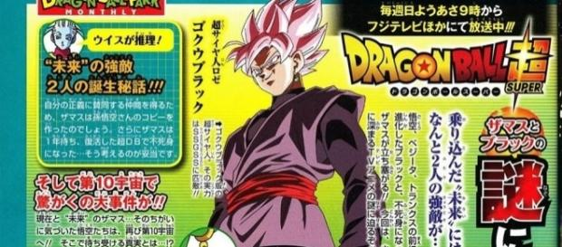 Revista V-Jump donde se explica el origen de la transformación