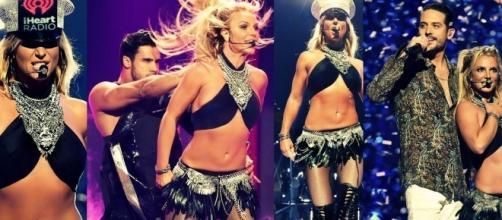 #BritneySpears rinasce con uno stralcio del 'Britney: Piece Of Me', sul palco dell'#iHeartRadioMusicFestival! #BlastingNews