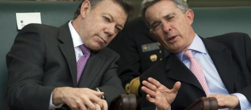 El Presidente Santos en reunión con Uribe