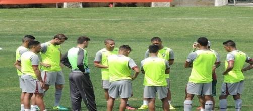 Orientados por Levir, jogadores encerram preparação para encarar o Corinthians (Foto: Hector Werlang / Globoesporte)