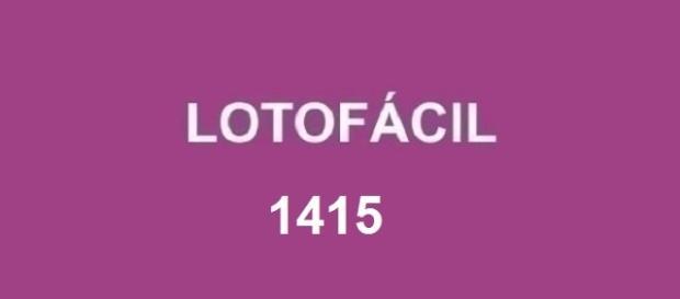 Divulgado o resultado 1415 da Lotofácil