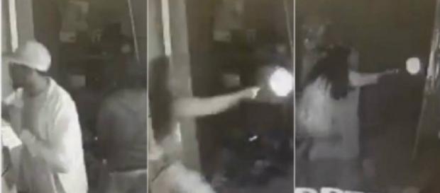 Mulher atira contra homens que invadiram sua casa