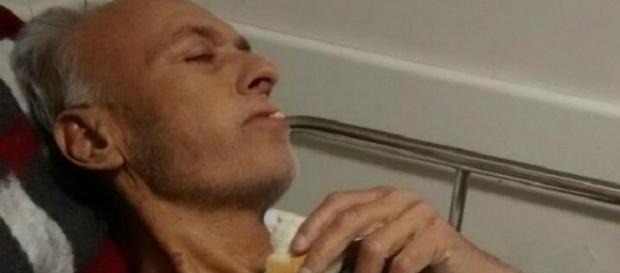 O homem está internado em estado grave na UTI