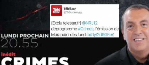 Certes, Télé Star – qui a rectifié depuis – a un peu rapidement « viré » Morandini de NRJ12. Mais c'est, semblerait-il, en cours