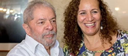 Ex-presidente Lula e Jandira Feghali