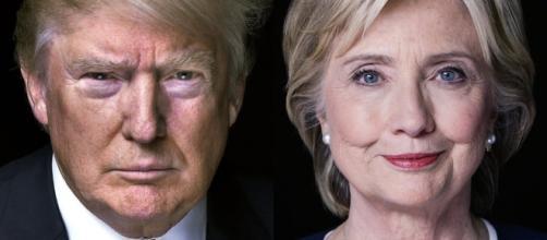 I candidati alla Casa Bianca, Donald Trump e Hillary Clinton