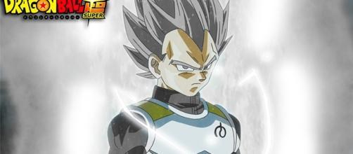 Vegeta by Pullet97 podría transformarse en super saiyajin blanco para detener a zamasu y su aliado Black quienes son la misma persona.
