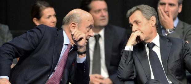Alain Juppe et Nicolas Sarkozy