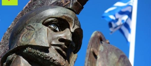 Estátua do rei grego Leônidas em Esparta