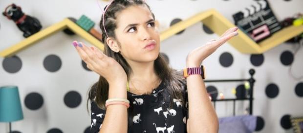Maisa Silva na gravação do 'vlog da Ju'