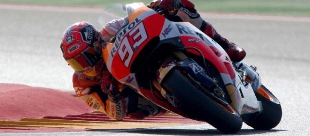 MotoGp Marc Marquez ganando en el Gran Premio de Aragón