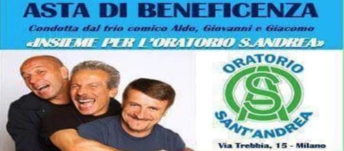 Aldo, Giovanni e Giacomo, Beneficenza, Oratorio Sant'Andrea, Milano