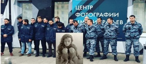 L'une des photos de l'exposition du centre Frères Lumière de Moscou a été aspergée d'urine