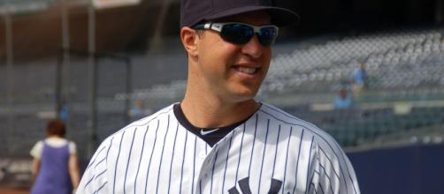 Mark Teixeira's ninth inning grand slm gave the Yankees a 5-3 win over the Red Sox on Wednesday Phto: wikipedia