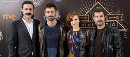 Nacho Fresneda (Alonso), Hugo Silva (Pacino), Aura Garrido (Amelia) y Rodolfo Sancho (Julián) /Tve1