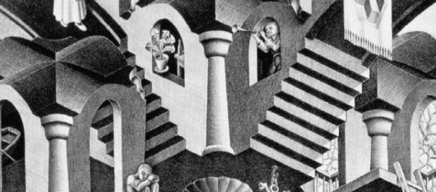 Particolare di un'opera di Escher