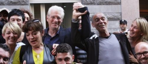 Richard Gere visita un centro de personas sin hogar en San Sebastián / C. Babón